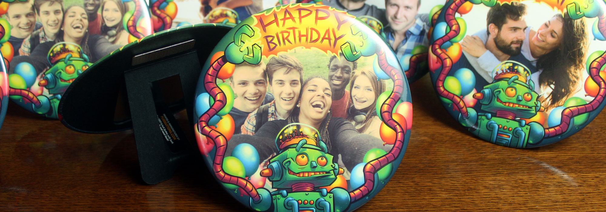 Robot Birthday 6 Inch Magnetic Easel