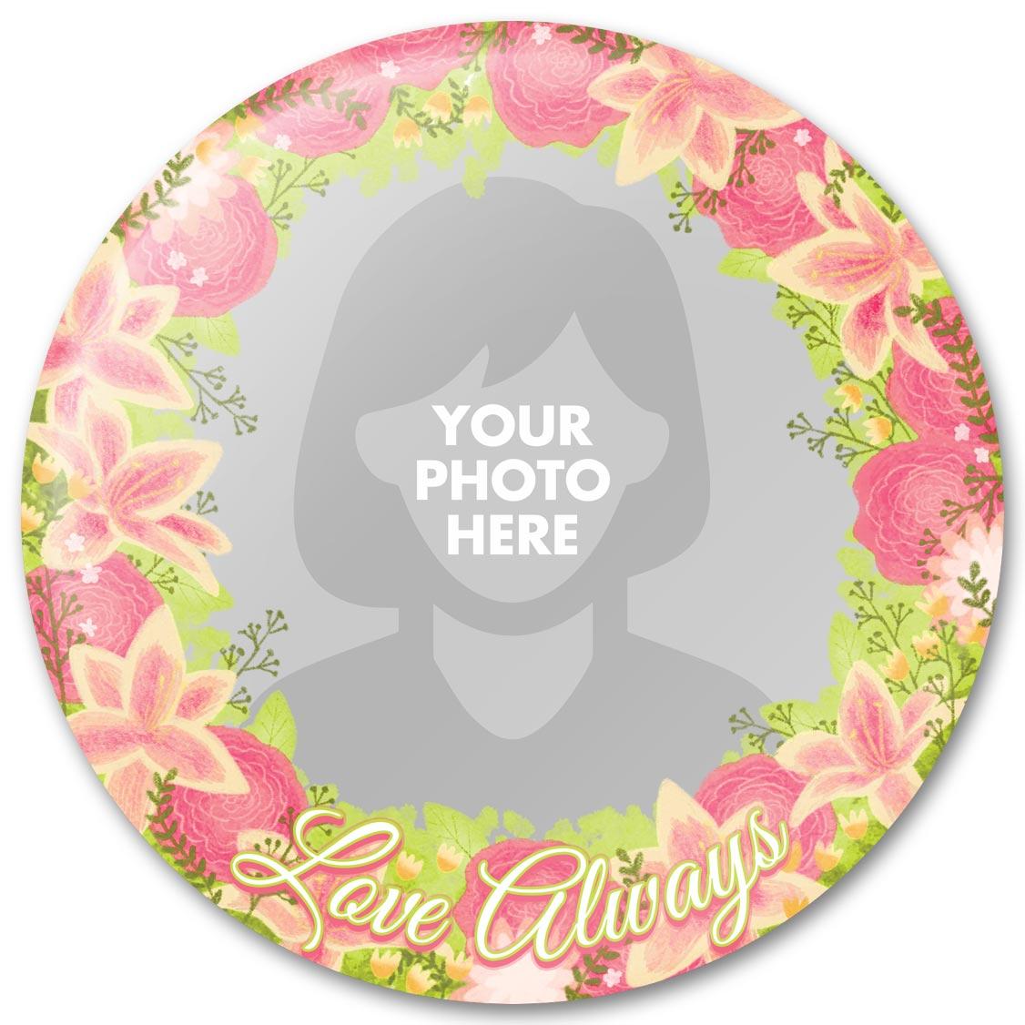 Love Always Flower Bouquet - Baby Photo Gift Design