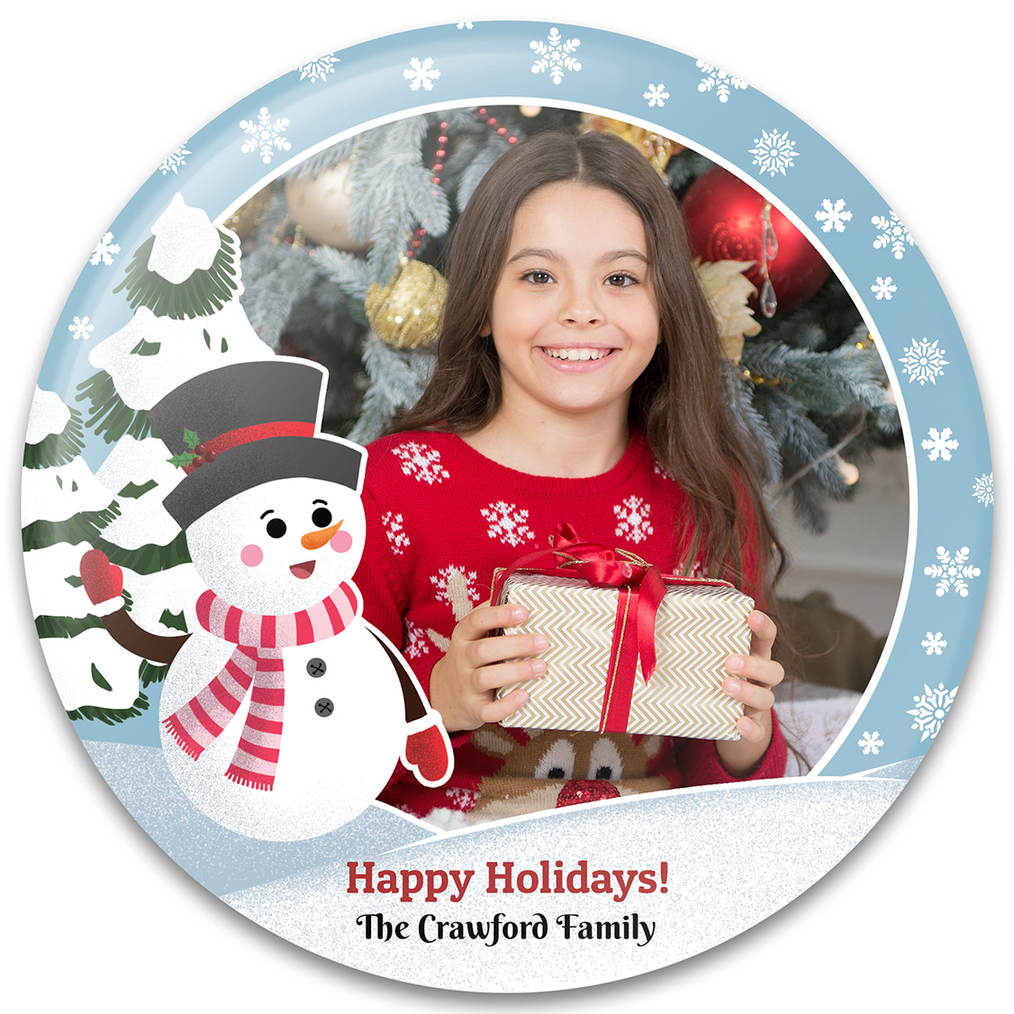 Winter Wonderland Christmas Photo Gift Template